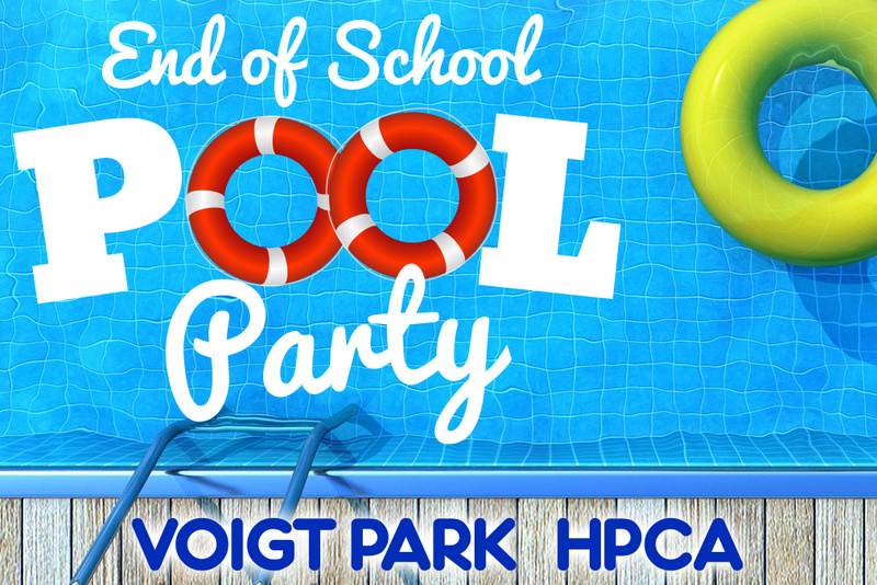 End of School Pool Party Sign 18 x 27